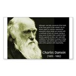 Charles Darwin: Science Sticker (Rectangular)