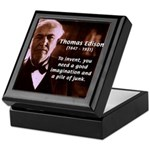 Imagination Thomas Edison Tile Box