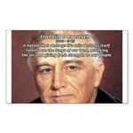 American President FDR Sticker (Rectangular)