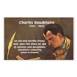 French Poets Baudelaire Sticker (Rectangular)