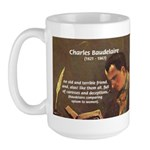 French Poets Baudelaire Large Mug