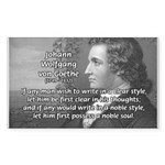 Poet Johann von Goethe Sticker (Rectangular)