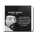 Philosopher Francis Bacon Mousepad
