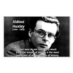 History Aldous Huxley Sticker (Rectangular)