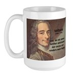 French Philosopher: Voltaire Large Mug