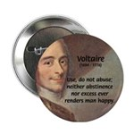 French Philosopher: Voltaire Button