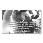 Desire for Women Neitzsche Sticker (Rectangular)