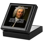 Composer J.S. Bach Tile Box