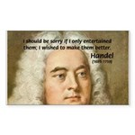 Handel's Messiah Sticker (Rectangular)