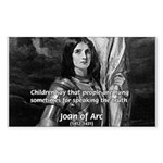 Heroine / Saint Joan of Arc Sticker (Rectangular)