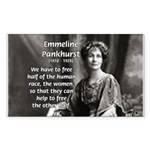 Suffragist Emmeline Pankhurst Sticker (Rectangular
