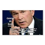 Terrorism George W. Bush Sticker (Rectangular)