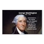 Politics: George Washington Sticker (Rectangular)