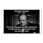 Sir Winston Churchill Sticker (Rectangular)