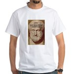 Greek Philosophers: Aristotle White T-Shirt