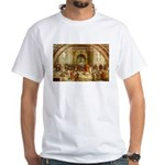 Raphael School of Athens White T-Shirt