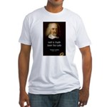 Thomas Hobbes Truth Fitted T-Shirt