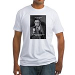Existentialist Jean-Paul Sartre Fitted T-Shirt