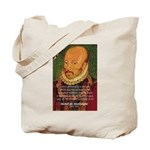 Michel de Montaigne Education Tote Bag