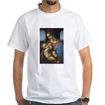 Woman and Child: Da Vinci White T-Shirt